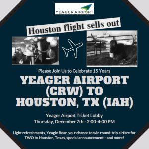 houston flight yeagar airport