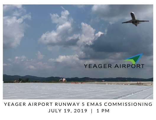 07/18/2019 – Press Release – Yeager Airport to Celebrate Commissioning of Runway 5 Safety Area EMAS