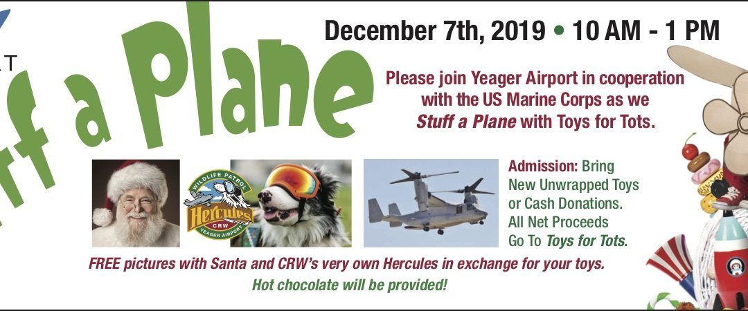 YEAGER AIRPORT PROUDLY PRESENTS – STUFF A PLANE
